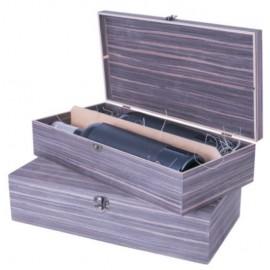 Drvena kutija za dve flaše - orah