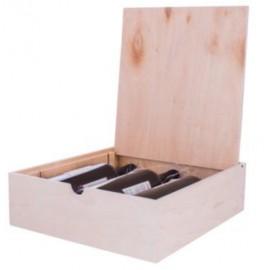 Drvena kutija za tri flaše